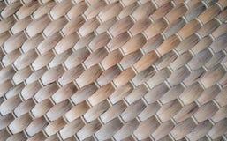 Struttura alta chiusa della stuoia di piatto di bambù immagini stock