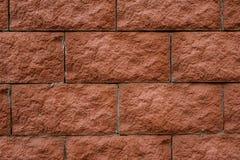 Struttura alta vicina del fondo della macrofotografia dei mattoni rossi della parete Fotografia Stock
