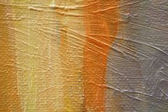Struttura alta vicina della pittura a olio con i colpi della spazzola Fotografia Stock Libera da Diritti