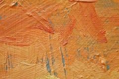Struttura alta vicina della pittura a olio con i colpi della spazzola Immagine Stock