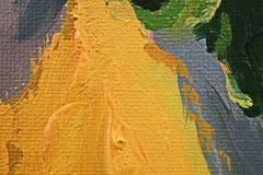 Struttura alta vicina della pittura a olio con i colpi della spazzola Immagini Stock Libere da Diritti