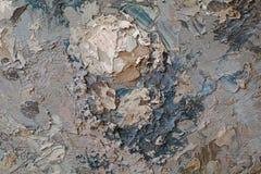 Struttura alta vicina della pittura a olio con i colpi della spazzola Immagini Stock