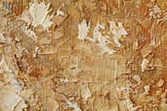 Struttura alta vicina della pittura a olio con i colpi della spazzola Immagine Stock Libera da Diritti