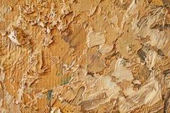 Struttura alta vicina della pittura a olio con i colpi della spazzola Fotografie Stock