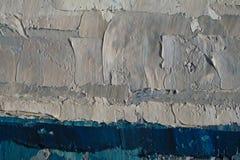 Struttura alta vicina della pittura a olio con i colpi della spazzola Fotografie Stock Libere da Diritti