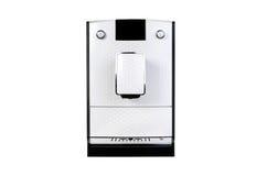 Struttura anteriore isolata macchinetta del caffè per il vostro oggetto Fotografia Stock