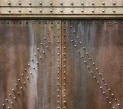 struttura antica della parete del metallo Fotografie Stock
