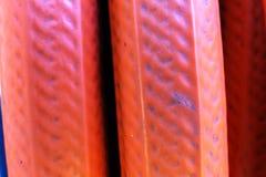 Struttura arancio del tubo flessibile Fotografie Stock