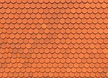 Struttura arancio delle mattonelle di tetto, fondo Immagine Stock Libera da Diritti