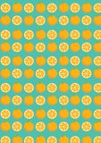 Struttura arancio senza cuciture della frutta dei modelli moderna illustrazione di stock