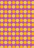 Struttura arancio senza cuciture della frutta dei modelli moderna royalty illustrazione gratis