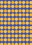 Struttura arancio senza cuciture della frutta dei modelli moderna illustrazione vettoriale