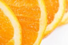 Struttura arancione della fetta Immagine Stock