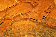 Struttura arancione della gomma piuma Fotografia Stock