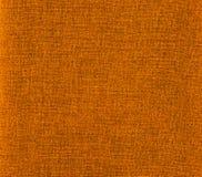 Struttura arancione della tela di canapa Immagini Stock