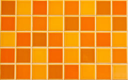 Struttura arancione delle mattonelle Immagini Stock Libere da Diritti