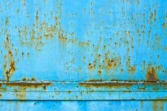Struttura arrugginita blu del metallo Fotografia Stock Libera da Diritti
