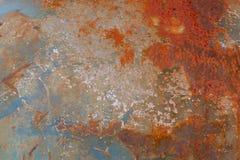 Struttura arrugginita del fondo del metallo della sporcizia di lerciume fotografie stock