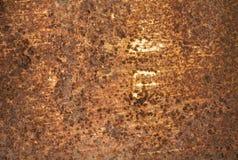 Struttura arrugginita del metallo Fotografie Stock Libere da Diritti