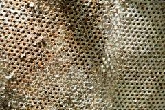 Struttura arrugginita della sedia del ferro, fine su fondo Immagine Stock Libera da Diritti