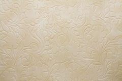 Struttura artificiale beige scura del tessuto Immagini Stock