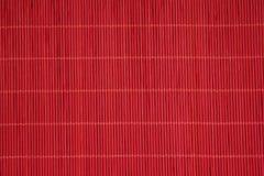 Struttura asiatica rossa della stuoia Fotografie Stock