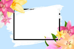 Struttura astratta con Lily Flower Sfondo naturale Illu di vettore Fotografie Stock Libere da Diritti