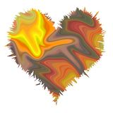 Struttura astratta del cuore nei colori morbidi pastelli scorrenti illustrazione di stock