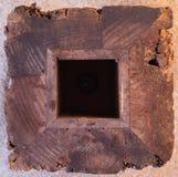 Struttura astratta del fondo - blocco di legno irregolare, reticolo del granulo. Fotografie Stock Libere da Diritti