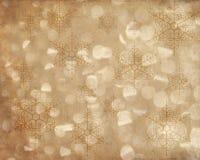 Struttura astratta del fondo del fiocco di neve di festa Fotografie Stock