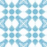 Struttura astratta delicata bianca blu Illustrazione elegante del fondo Mattonelle senza cuciture quadrate Modello della stampa d Fotografia Stock