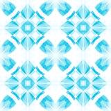 Struttura astratta delicata bianca blu Illustrazione elegante del fondo Mattonelle senza cuciture quadrate Modello della stampa d Fotografia Stock Libera da Diritti