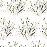 Struttura astratta dell'erba e della pianta illustrazione di stock