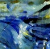 Struttura astratta dell'impressione Fondo luminoso artistico azione Materiale illustrativo della pittura a olio Carta da parati m illustrazione vettoriale