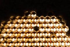 Struttura astratta della cera dell'ape Immagine Stock