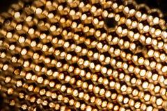 Struttura astratta della cera dell'ape Fotografie Stock