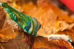 Struttura astratta della pittura ad olio su tela Immagine Stock
