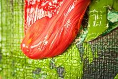 Struttura astratta della pittura ad olio su tela Immagine Stock Libera da Diritti