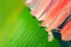 Struttura astratta della pittura ad olio su tela Fotografia Stock
