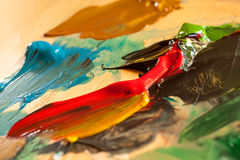 Struttura astratta della pittura ad olio su tela Fotografia Stock Libera da Diritti