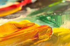 Struttura astratta della pittura ad olio su tela, fondo Fotografia Stock Libera da Diritti