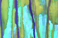 Struttura astratta della pittura della mano dell'acquerello, fotografia stock