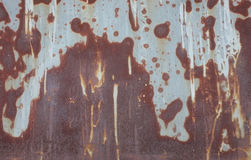Struttura astratta della ruggine sul fondo del piatto del ferro Immagini Stock