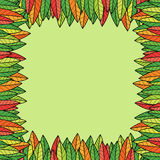 Struttura astratta delle foglie variopinte Immagini Stock Libere da Diritti