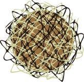 Struttura astratta di cioccolato. illustrazione vettoriale