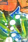 Struttura astratta di graffity Fotografie Stock Libere da Diritti
