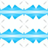 Struttura astratta grigia bianca blu-chiaro Mattonelle senza cuciture Illustrazione semplice del fondo Modello della stampa del t Fotografia Stock