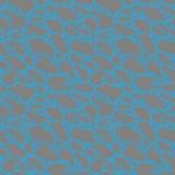 Struttura astratta Modello senza cuciture con le forme poligonali grige incrinate su un fondo blu Vettore Fotografia Stock Libera da Diritti