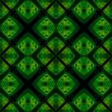 Struttura astratta moderna nera verde Illustrazione dettagliata del fondo Modello della stampa del tessuto Mattonelle senza cucit Immagine Stock Libera da Diritti