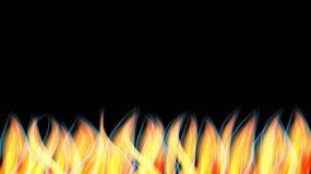 Struttura astratta un fuoco bruciante arancio rosso brillante caldo con le lingue dello spazio della fiamma e del fumo e della co illustrazione vettoriale